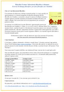 Filosofia d'estate, laboratorio di p4c (Ziglioli)